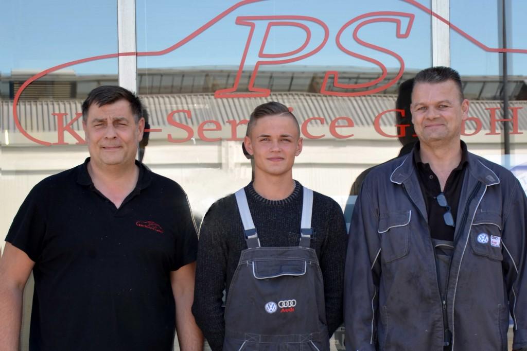 von links: Udo Pleis, Juri Hristin (Azubi) und Thomas Schultze